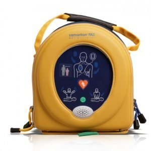 Essential First Aid Australia. AED. Defibrillator. HeartSine Samaritan. 500P. 350P. PAD. First Aid Kits and Equipment. Gold Coast Australia First Aid. Emergency and Trauma First Aid Kits. Home Workplace Office Kits. Safework Australia Compliant.