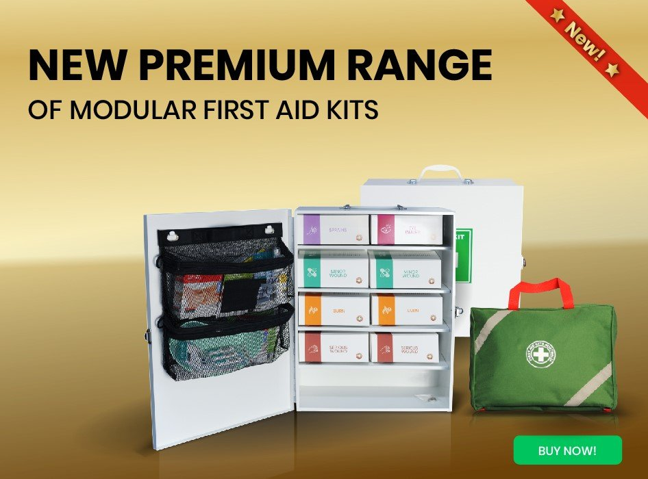 Our new modular first aid kits are workplace compliant and enable you to quickly access exactly what is needed in an emergency. In addition to being highly visual and tamper sealed, these kits make auditing and replenishing a breeze.